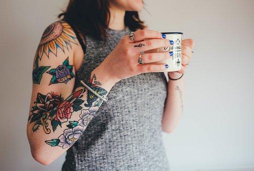 Tattoos, Tattooing, Arm, Skin, Flower Tattoos, Woman