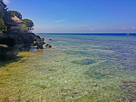 Moalboal, Cebu, Philippines, Beach, Coast