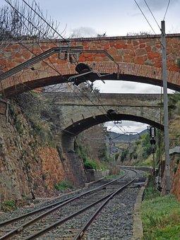 Via, Railway Line, Engineering, Bridge, Bricks