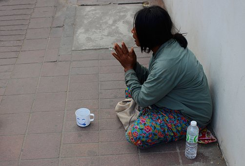 Beggar, Woman, Help, Female, Poverty, Poor, Homeless