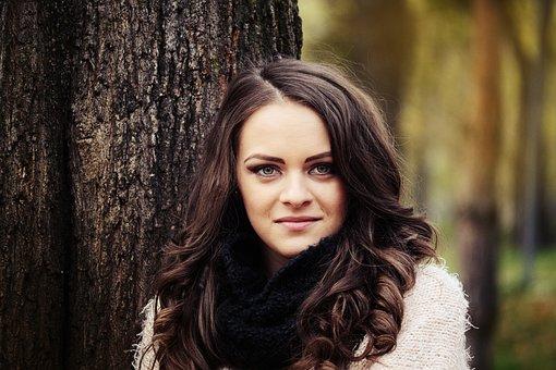 Beautiful Girl Portrait, Girl In The Park
