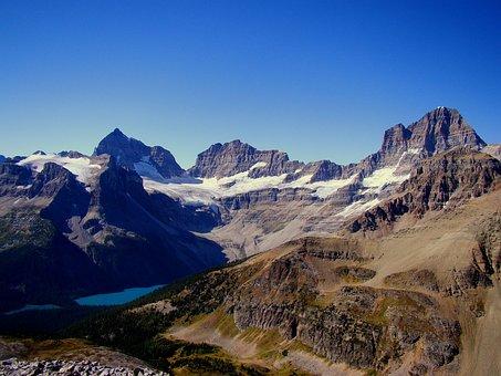 Mountain, Lake, Scenery, Mt Assiniboine, Canada, Nature