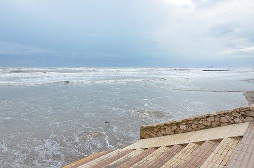 Sea, Shore, Water, Waves, Beach, Tourism, Force, Rock