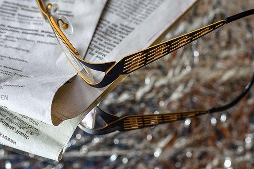 Glasses, Sehhilfe, See, Newspaper, Reading Glasses