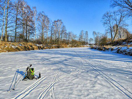 Winter, River, Frozen River, Landscape, Spacer, Tourism
