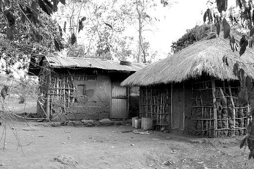 African Home, Uganda, Village, House, Hut, Home, Africa
