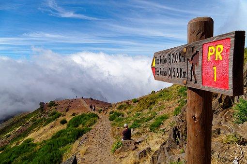 Mountain, Hiking, Path, Away, Wanderer, Panorama, Idyll