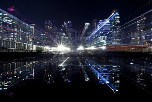 Cityscape, Light, Zoom, City, Urban, Night, Street