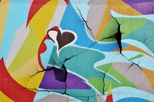 Graffiti, Wall, Cracks, Street Art
