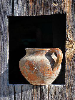 Jar, Ceramic, Mud, Crafts, Pitchers, Rustic