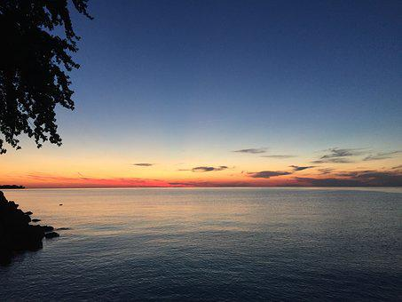 Sunset, Lake, Lake Ontario, Evening, Cloud, Water