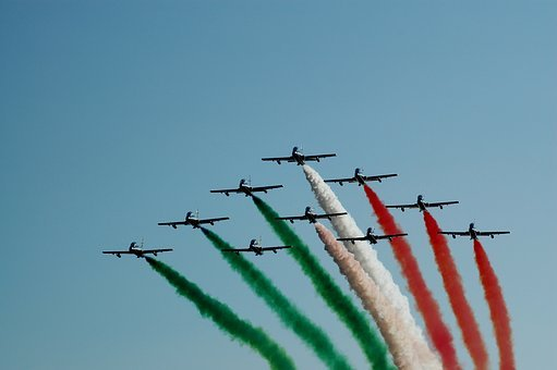 Tricolor Arrows, Military, Airshow, Plane, Smoke