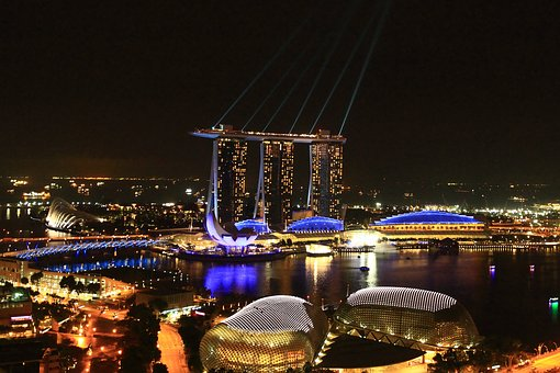 Marina Bay Sands, Singapore, Night View