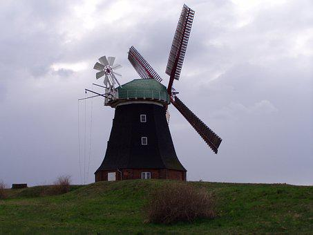 Mill, Windmill, Mecklenburg, Northern Germany