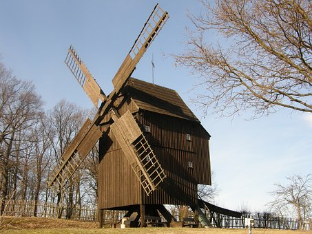 Windmill, Post Mill, Wind, Mill, Historically