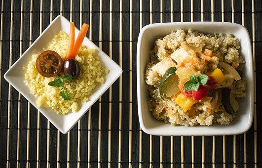 Cuscus, Quinoa, Vegetables, Healthy Food, Salads