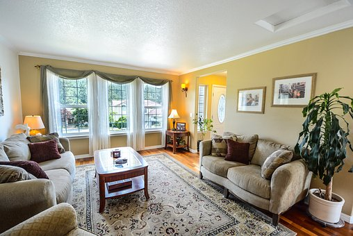 Living Room, Residential, Real, Home