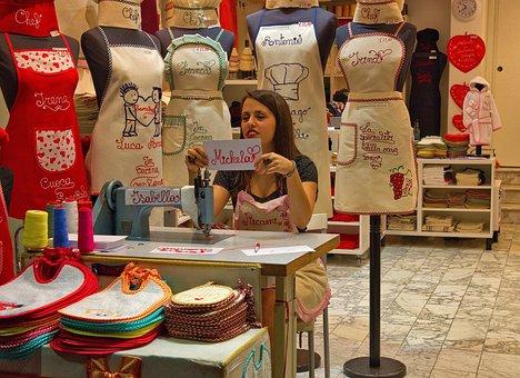 Seamstress, Dressmaker, Sewing, Craft, Fabric, Thread