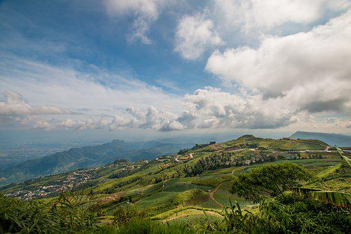 Sky, Mountains, Phu Thap Boek, Tourists, Geography