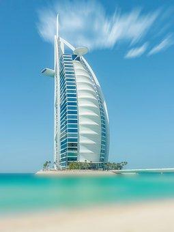 Dubai, United Arab Emirates, Sea, Beach, Architecture