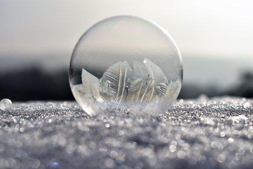 Soap Bubbles, Frozen, Frost, Frozen Bubble