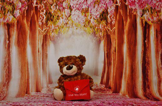 Mother's Day, Teddy, Greeting Card, Greeting, Welcome