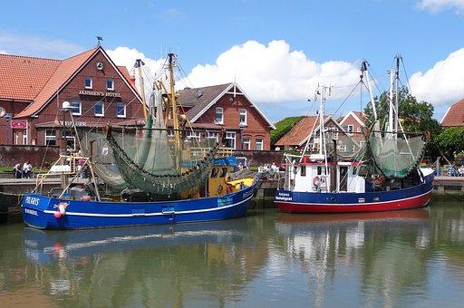Port, Neuharlingersiel, Cutter, North Sea, Docks