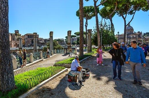 Musician, Street, Performer, Rome, Roma, Italy, Guitar