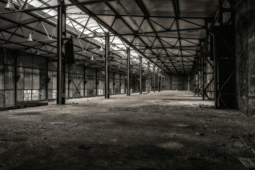 Lost Places, Hall, Stock, Factory, Building, Pforphoto