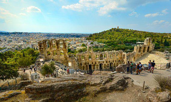 Athens, Greece, Greek, Acropolis, Theater, Temple, View