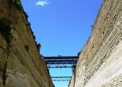Bridge, Corinth, Channel