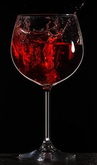 Splash, Wine, Drink, Liquid, Glass, Red, Wineglass