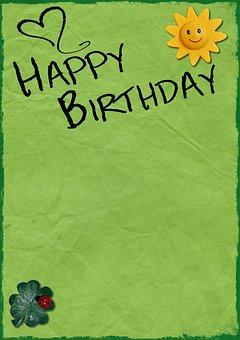 Birthday, Background, Birthday Card, Happy Birthday