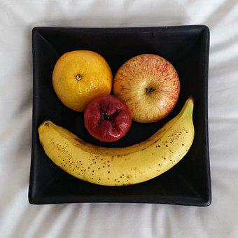 Smile, Fruit, Plate, Food, Healthy, Fresh, Happy, Diet