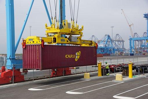 Container, Faucet, Port, Maasvlakte, Rotterdam, Load