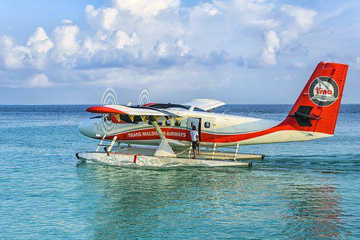 Landscape, Indian Ocean, Sea, Nature, Water, Aircraft