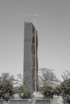 Vienna, Skyscraper, Site, Crane, Architecture