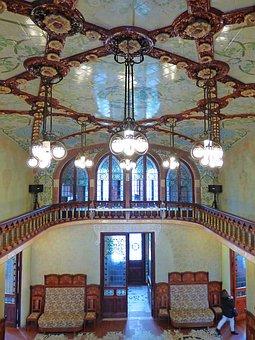 Ceiling, Paneling, Tiles, Catalan Modernism, Pere Mata