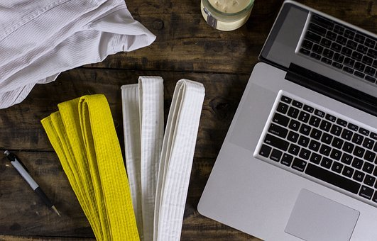 Karate, Martial Arts, Computer, Desk, Marketing, Market