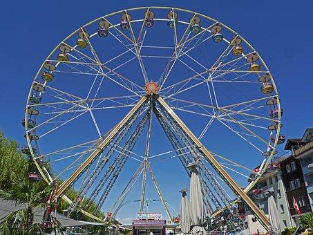 Ferris Wheel, Folk Festival, Marketplace, Downtown