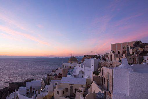 Santorini, Sunset, Magic Hour, Oia, Greek, Greece