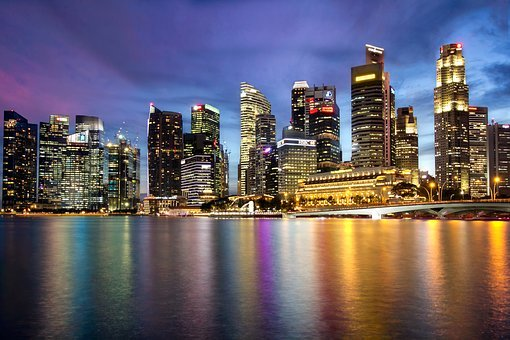 Singapore, Marina Bay, Merlion, Bay, Asia, Marina, City