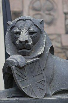 Lion, Stone Sculpture, Scotland, Castle, Monument