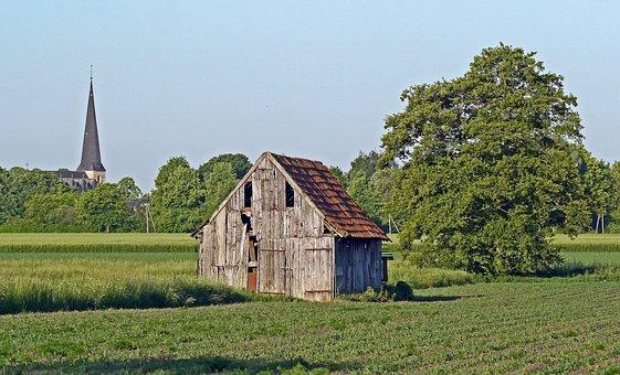 Münsterland, Westfalen, Rural, Typical, Agriculture