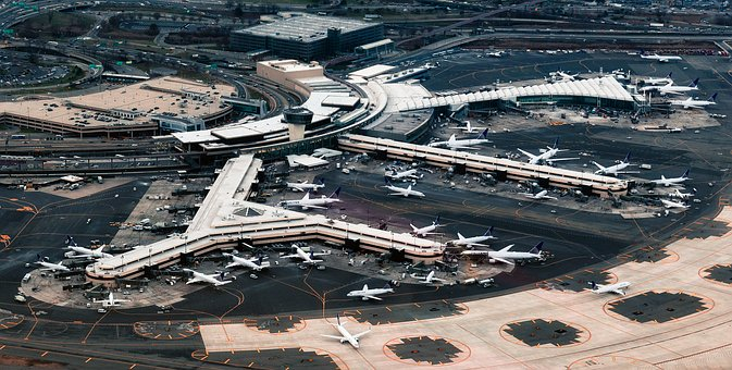 Newark, New Jersey, Airport, Airplanes, Jets