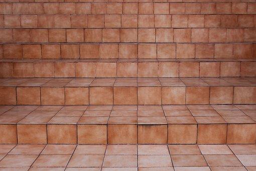 Steps, Ceramic Tiles, Brown, Ceramic, Tile, Pattern