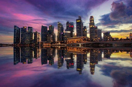 Singapore, Marina Bay, Sunset, Sunrise, Architecture
