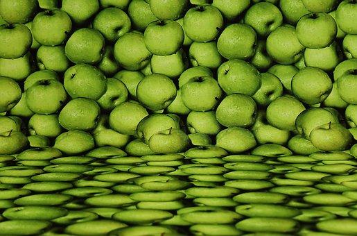 Background Image, Apple, Fruit, Green, Textile
