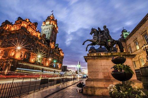 England, At Night, The Night, Europe, Edinburgh