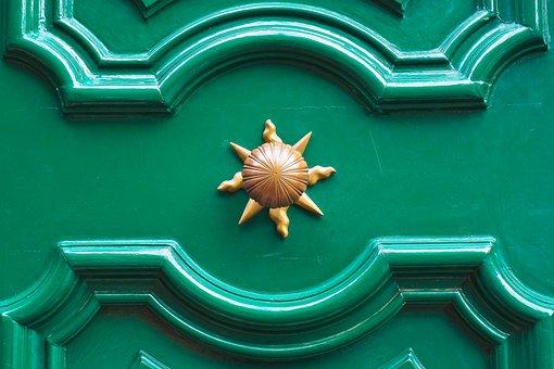 Door, Door Knob, Handle, Wood, Iron, Old, Door Handle
